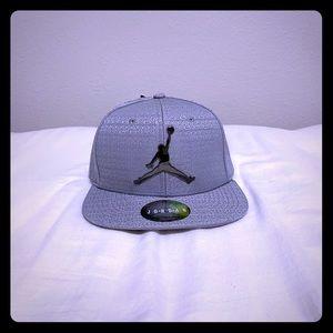 Nike Jordan Boy's Jumpman Cap Silver SnapBack